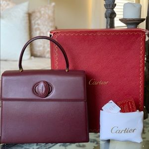 Authentic Must de Cartier Logos Hand Bag